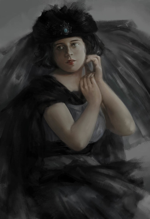 Victorian lady - illustration - doantrang-7240 | ello