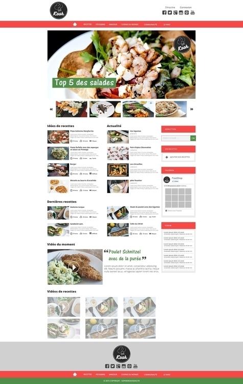 Page Home - ICook - website, web - sophierousseau | ello