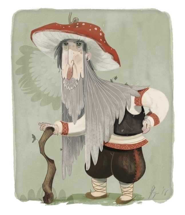 Grandpa Toadstool - illustration - joannastopyra | ello