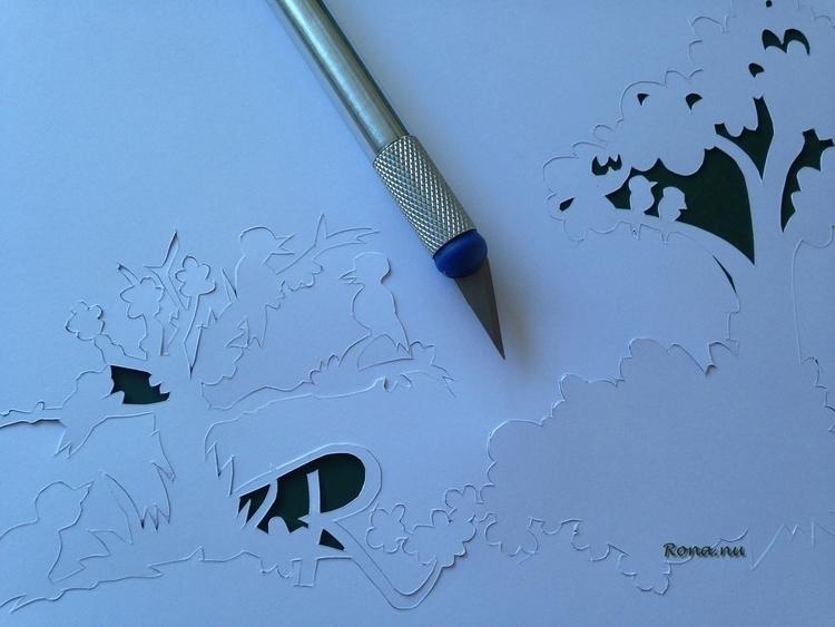 Work progress - papercut - rona-5961 | ello