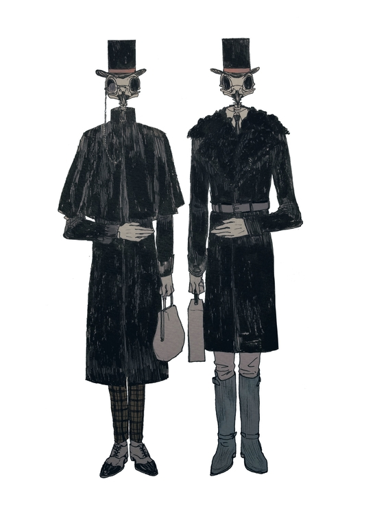 illustration, twins, grotesque - mioim | ello