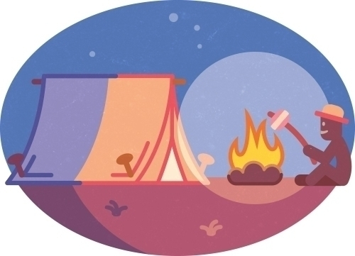 picnic - illustration, vector, icon - szokekissmarton-5412 | ello