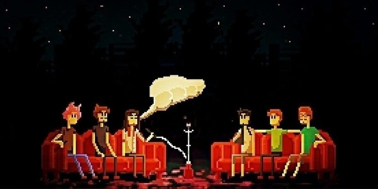 smoke night - pixelart - caiooliveira-1135 | ello