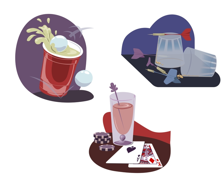Spot Illustrations theme Drinks - cmarling | ello