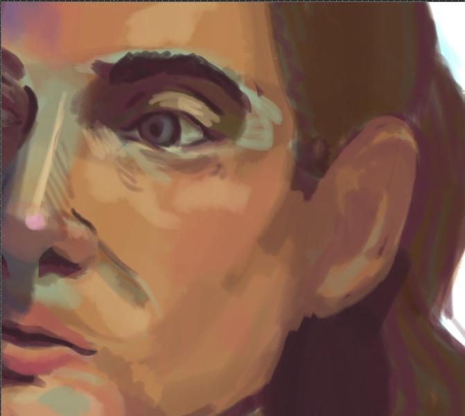 unfinished digital portrait ske - cmarling | ello