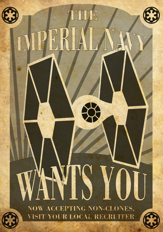 starwars, starwars, propagandaposter - the_grey_one | ello
