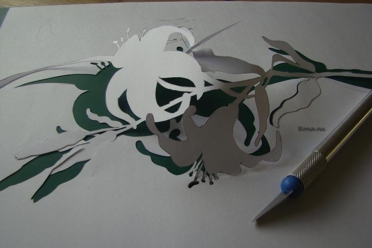 Lily flower - papercut, illustration - rona-5961 | ello