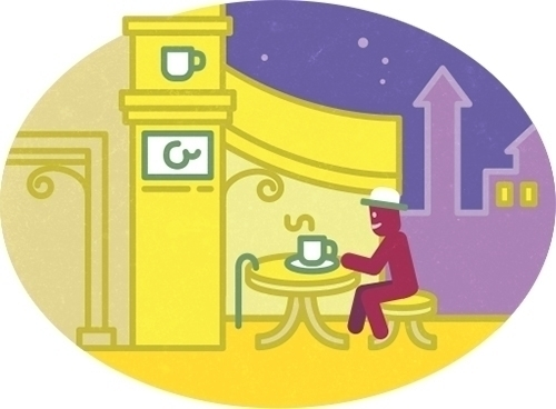 Olaf cafe - illustration, icon, vector - szokekissmarton-5412 | ello