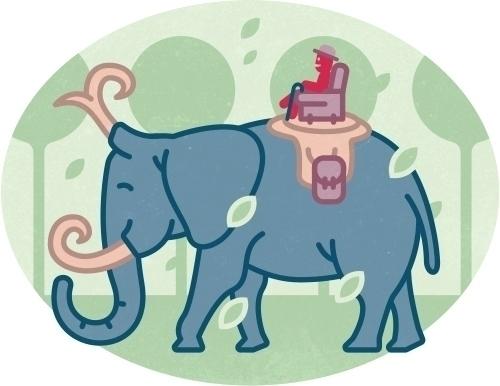 Olaf rides elephant - mrolaf, illustration - szokekissmarton-5412   ello