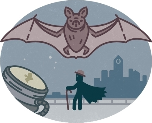 Olaf Gotham - illustration, icon - szokekissmarton-5412 | ello