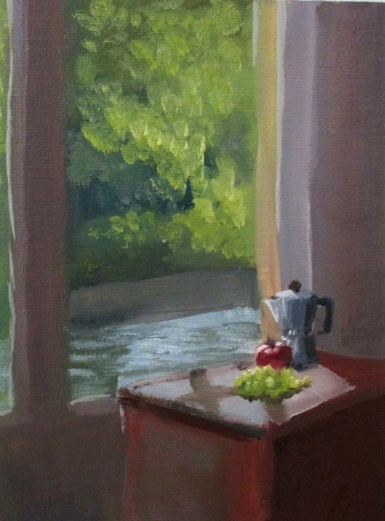 small interior study - oilpainting - cmarling | ello