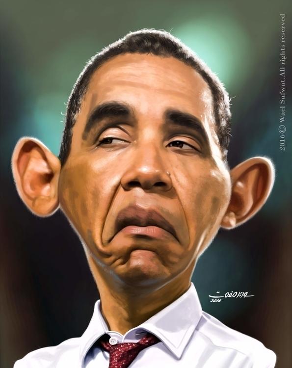 Obama - painting, characterdesign - joury1971 | ello