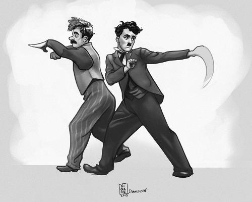study Charles Chaplin John Rand - drawlequin | ello
