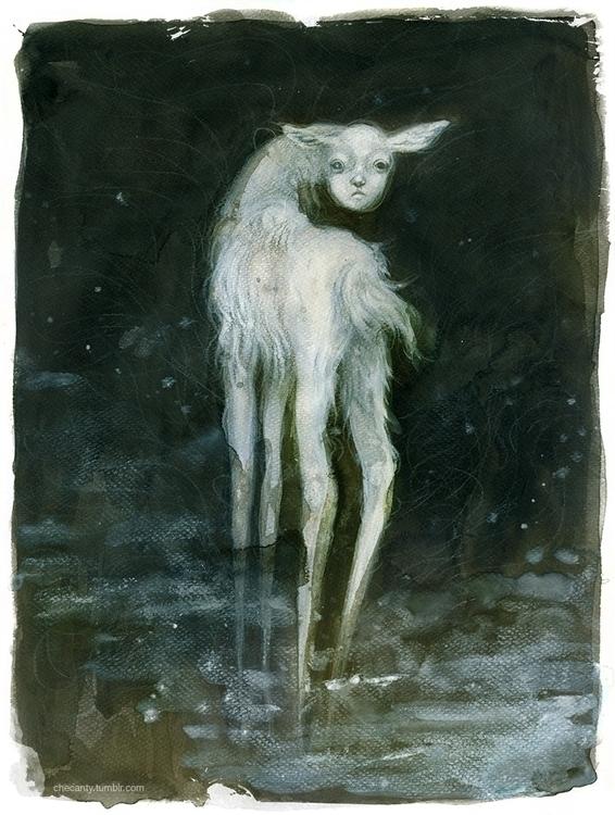 doe, deer, animal, creepy - checanty | ello