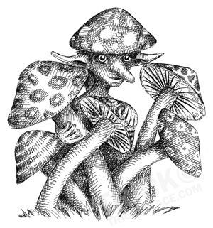 Mushroom Elf - lineart, elf, elves - trick-6303 | ello