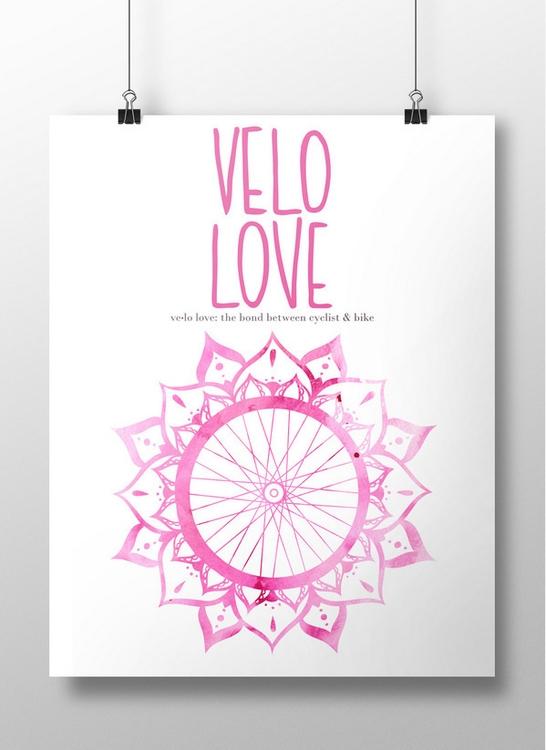 Velo Love Bike Poster Design, p - mariahliisa | ello