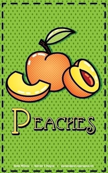 Peacher - food, foodillustration - aleshawilliams | ello