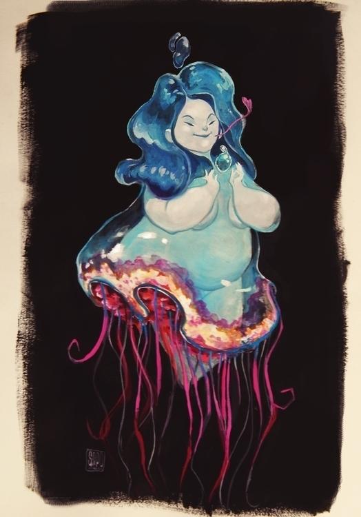Guardian Water - sketch, Illustration - sapolendario | ello