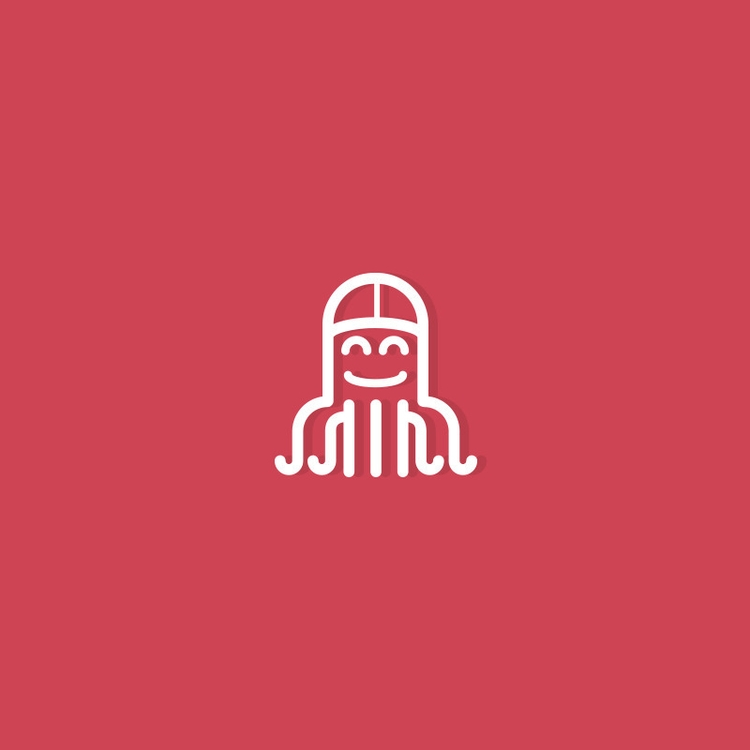 octopus - icon, icons, line, lines - gregscale | ello