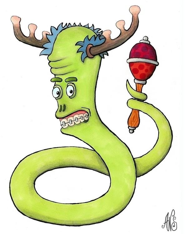 horned rattlesnake - illustration - ans-9428 | ello
