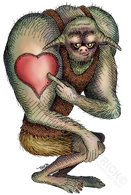 Ogre Proud Heart Tattoo - ogre, fantasy - trick-6303 | ello
