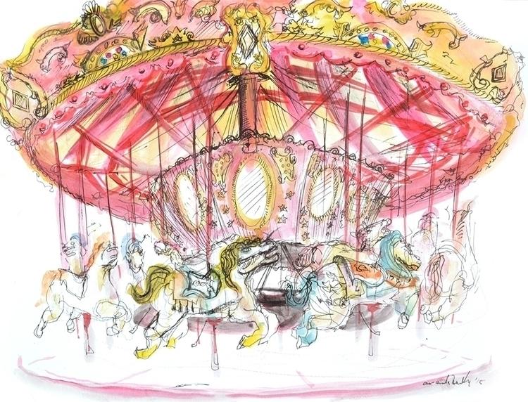Study Carousel; watercolor pape - amandareillyart | ello