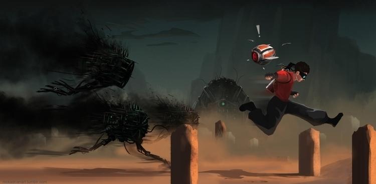 Game concept art. Run - gameart - nickadrian | ello