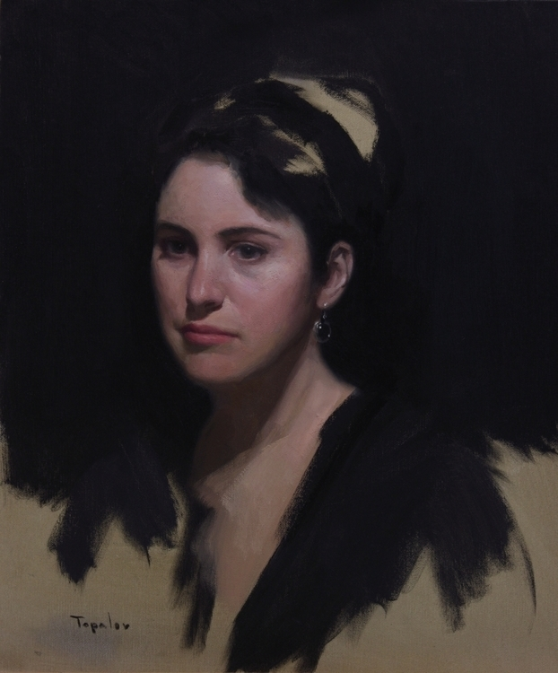 Effy - oil canvas - portrait, portraiture - rtopalov   ello