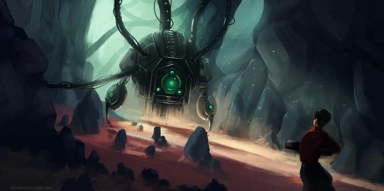 Game concept art. Enemy encount - nickadrian | ello