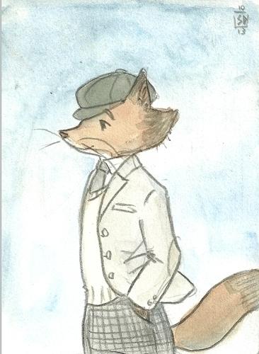 fox-gentleman - fairytales, characterdesign - serenedaoud | ello