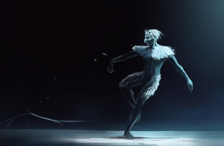 Night theatre - dance, illustration - nickadrian | ello