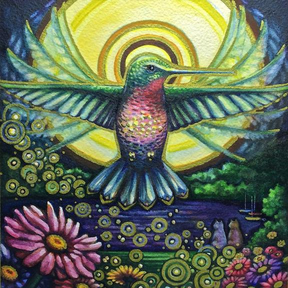 Lake Harriet Hummingbird - illustration - artfulu | ello