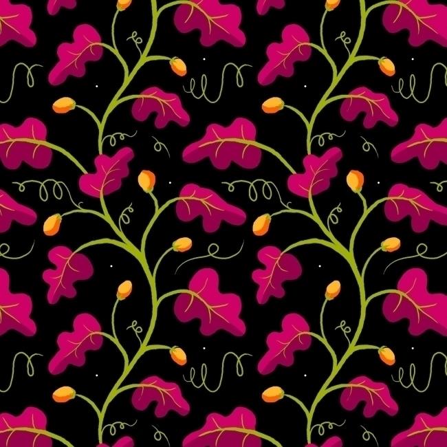 night foliage - pattern, patterndesign - stephaniekubo-8873 | ello
