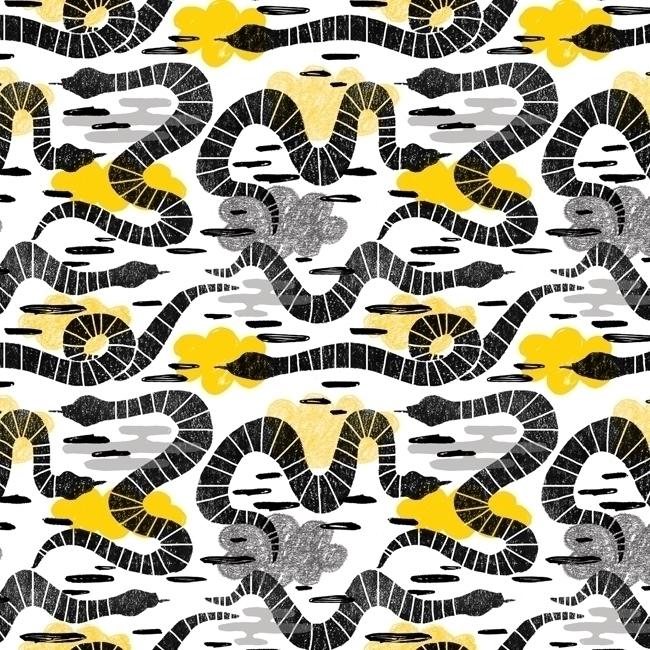 pattern, patterndesign, snakes - stephaniekubo-8873 | ello