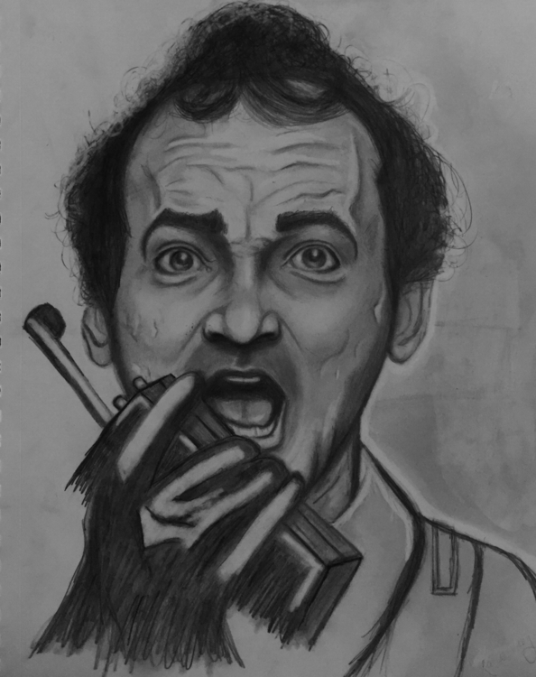 Bill Murray Ghostbusters - illustration - katiecorley14 | ello