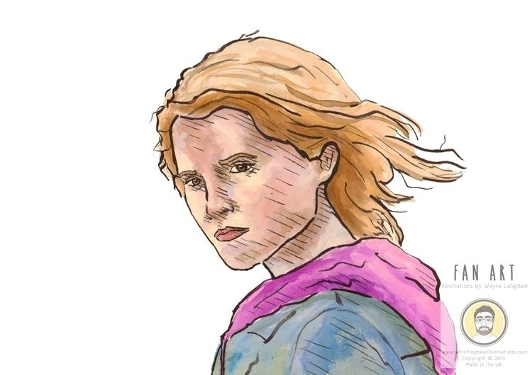 Harry Potter fan art ink - harrypotter - whistlingbear | ello