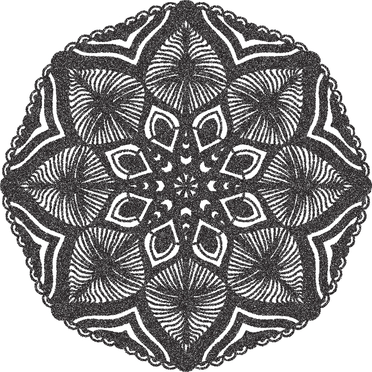 mandala, digitalart, ornament - starlight-1862 | ello