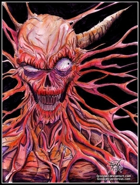 Traditional art - monster, illustration - fasslayer | ello