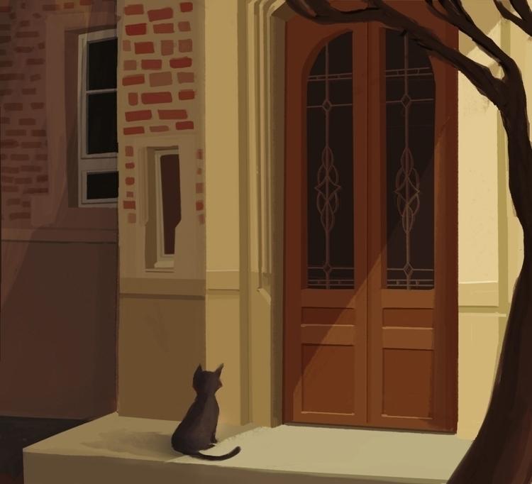 Cat - cat, illustration, digitalart - liviaconstante | ello