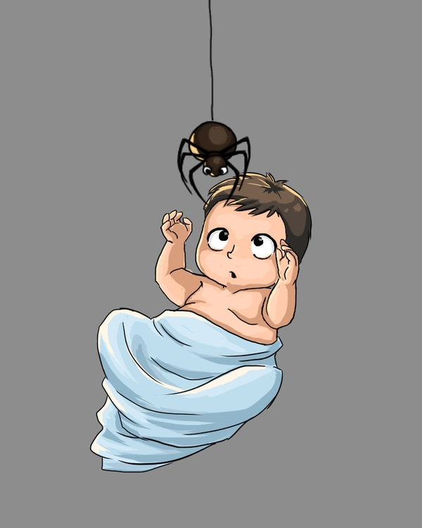 BabywSpider - illustration, characterdesign - qlink | ello