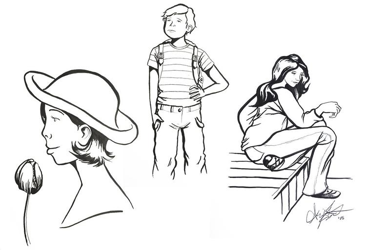 Ink sketches - brushpen, ink, drawing - abigailkraft | ello