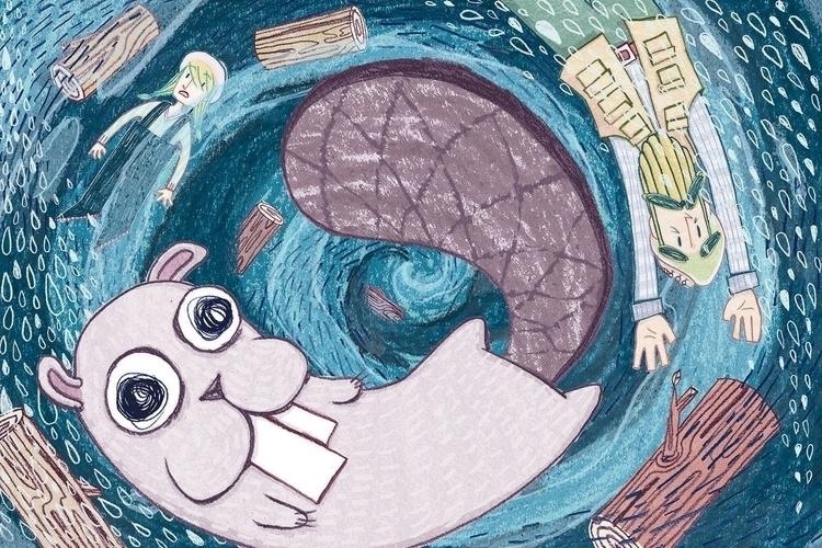 Beaver Boat! Swallowed whale - illustration - maggiemcaton | ello