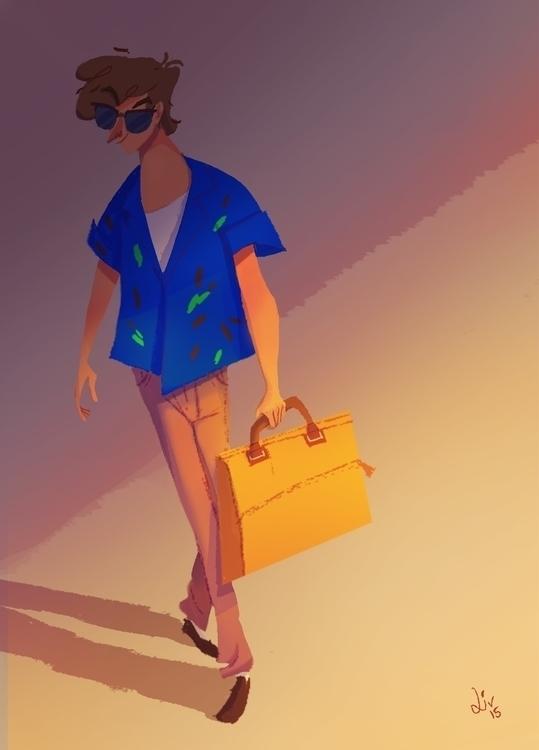 yellow case - man, character, digitalpainting - liviaconstante | ello