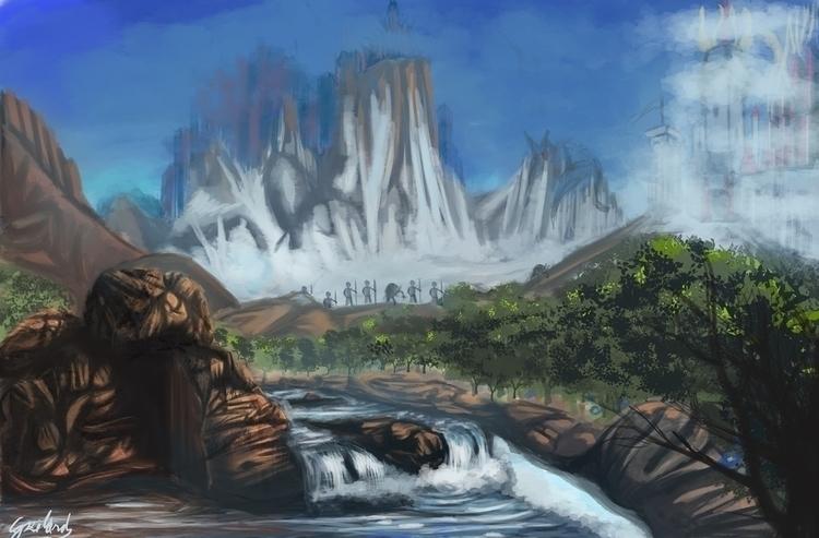 Fantasy landscape - illustration - szilardgspr | ello