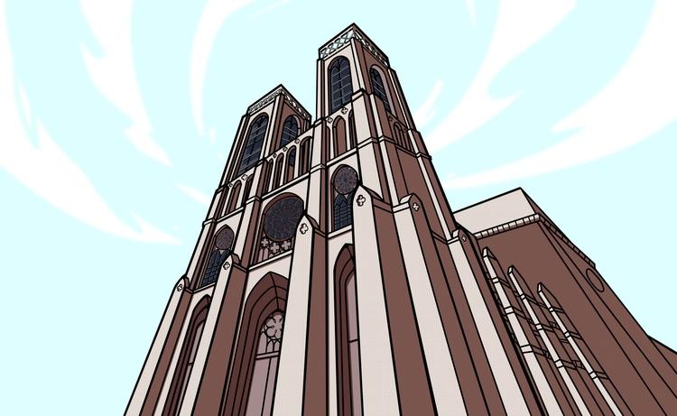 Church Art - illustration, painting - mboymanuel | ello