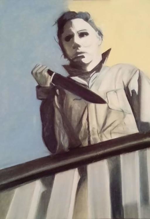 Michael myers pop art A2 pastel - foxyjo | ello