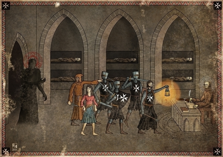 Commissioned illustration - medieval - robertaltbauer | ello