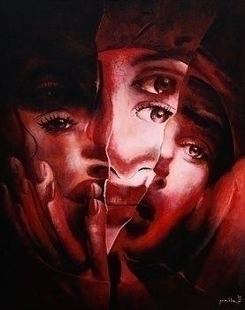 Schizophren acrylic canvas, 80x - przemek-4429 | ello