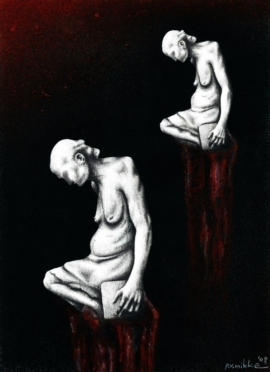 Twin Winters, acrylic, ink penc - przemek-4429 | ello