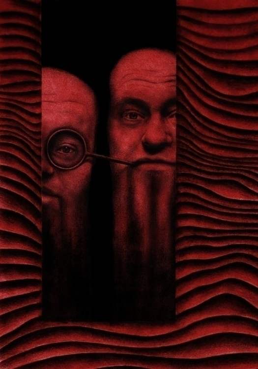 Myopia, acrylic, charcoal penci - przemek-4429 | ello